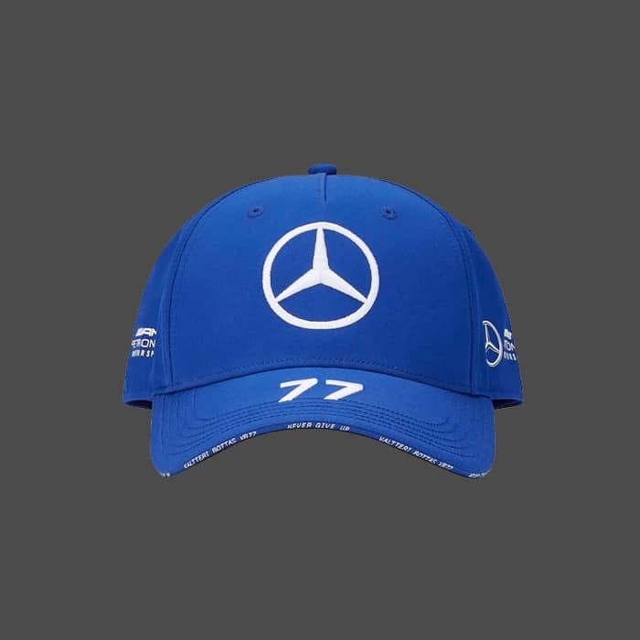 Casquette baseball bleue MERCEDES AMG PETRONAS Team 2021 Valtteri BOTTAS