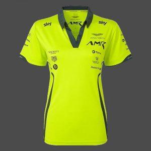 Polo ASTON MARTIN Racing Team 2020 vert pour femme