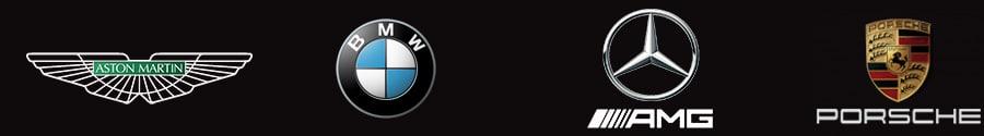 Logos des marque de prestige présents sur les vêtements en vente sur ce site