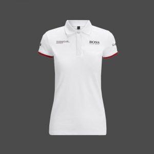 Polo PORSCHE Motorsport Team blanc pour femme
