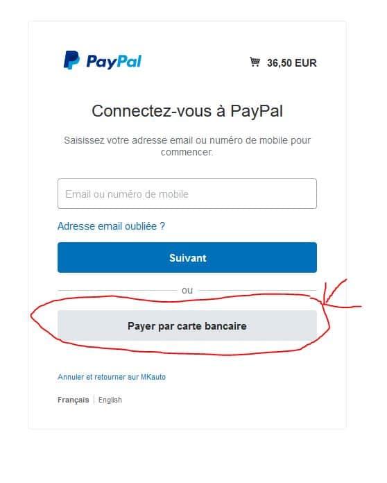 paypal sans ouvrir de compte